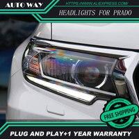 Car Styling Prado HID LED headlight headlamps HID Hernia lamp accessory Headlights case for Toyota Prado LC200 2018 Car styling