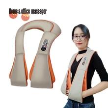 цена на Electric U-shaped Massager Shiatsu Back Shoulder Body massage multifunctional neck and back massager  home