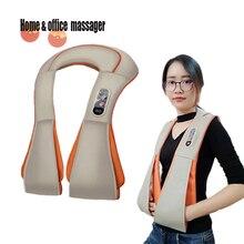 U Shape electric massager  Shiatsu Neck Shoulder back Massager Infrared Heated Kneading Homemasseur for neck and body Massagem