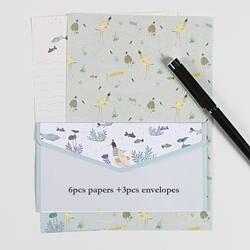 9 шт./лот открытка письмо канцелярские бумага конверт Винтаж конверты для приглашений небольшие подарки мини письма милые конверты