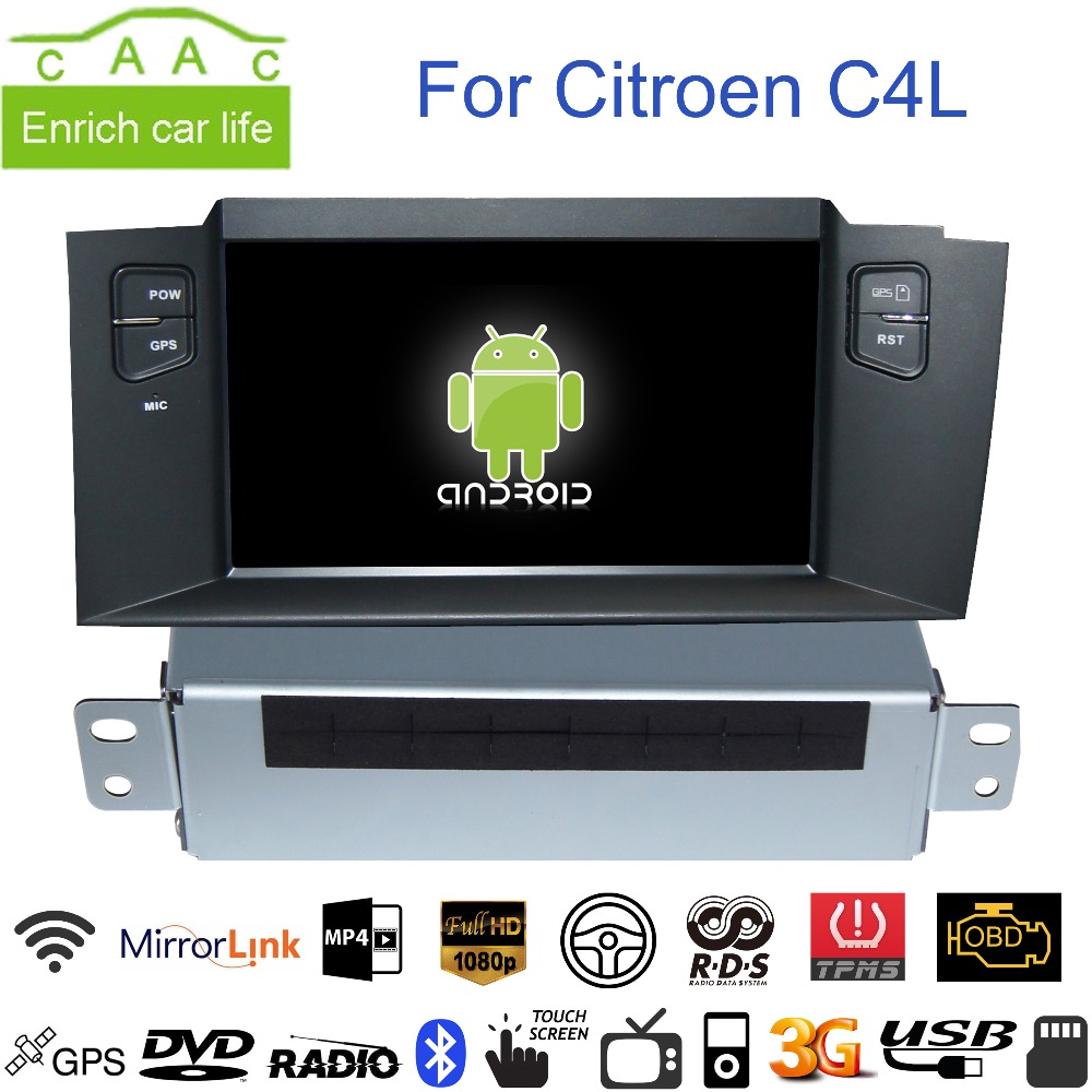 Android Capacitive GPS Navigation 7 inch Car DVD Player Citroen C4L Bluetooth/RDS/FM/AM/SWC/WIFI/USB/Ipod/Mirrorlink/TPMS  -  China Auto Accessories' Club store