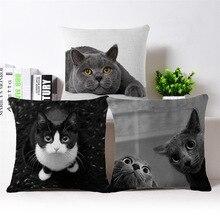 Dekorační polštářek s obrázkem kočky, povlečení na zip