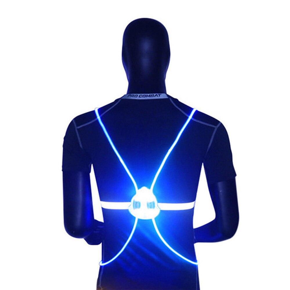 Multipurpose High Visibility 360 Reflective LED Flash Bike Vest Adjustable Running Cycling Vest Outdoor Safety Vest Wholesale