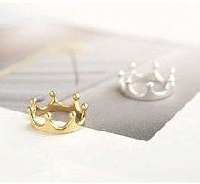 R025 Coroa Anéis Moda Jóias Para As Mulheres de Prata Banhado A Ouro anillos Para O Acoplamento Do Casamento Venda QUENTE 2017(China (Mainland))