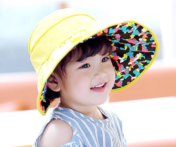 Retail Unisex Without Bucket Hats Children Printing Design Fisherman Caps Spring Summer Reversible Sun Protective Hat MZ4580