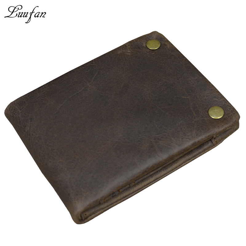 af4cbdd49441 Guaranteed genuine Leather pocket Wallet with card holder coin pocket Double  snap cowhide bifold wallet Trifold short purse