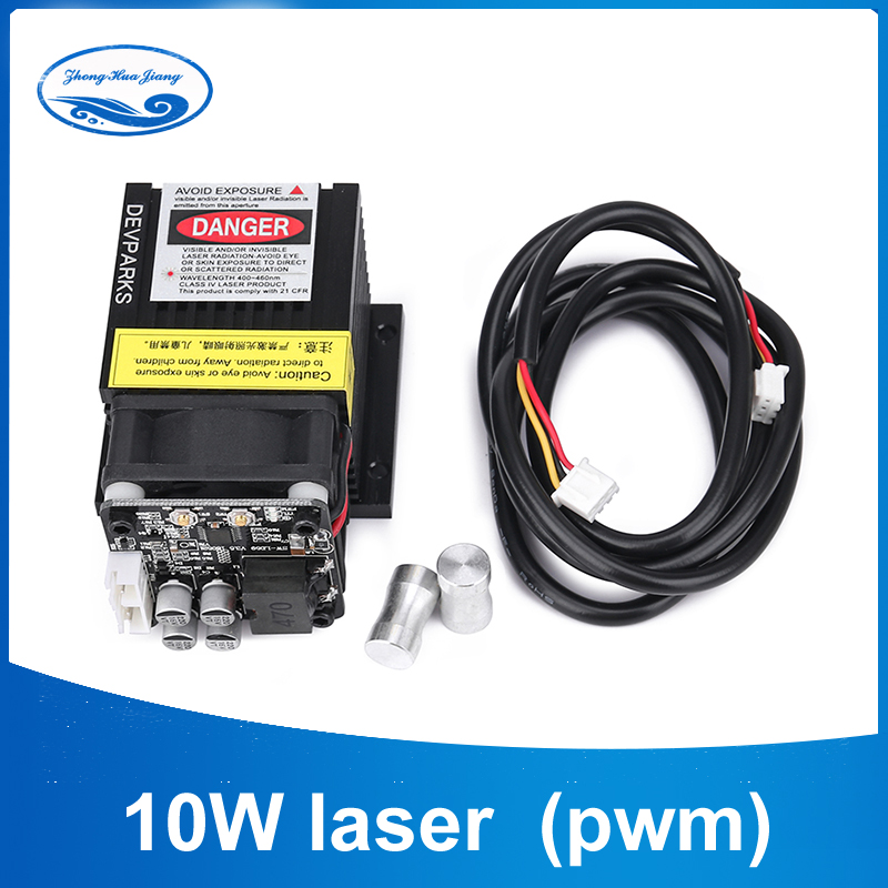 10w Laser Head Pwm Model Focusing Laser Engraving Machine Laser Cutting Machine Engraved On Metal Cutting Plywood