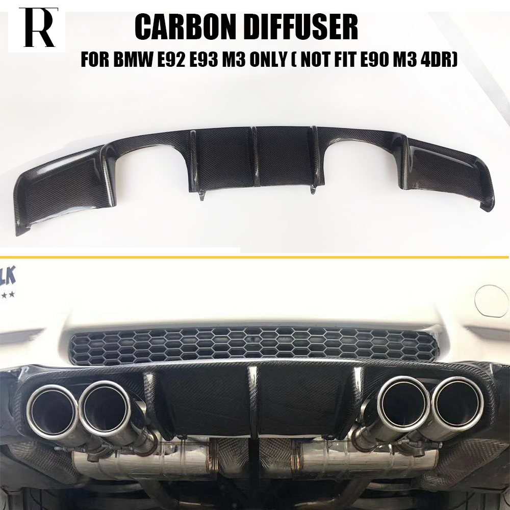 E92 E93 M3 Carbon Fiber Rear Bumper Lip Diffuser Spoiler for BMW E92 M3 Coupe  E93 M3 Convertible 2006 - 2012 (Can't fit E90 M3)