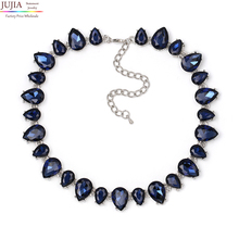 NEW High Quality full crystal necklaces fashion choker design chunky luxury collar crystal statement necklace for women