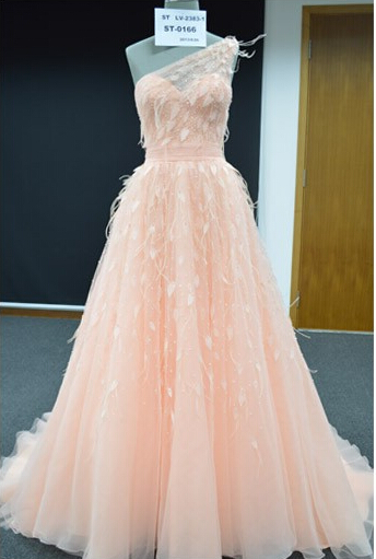 Off The Shoulder Shoulder Lovley Formal Evening Party Gowns Long Tulle Feather Evening Dresses On Sale Robe Soiree Longue Femme - 2