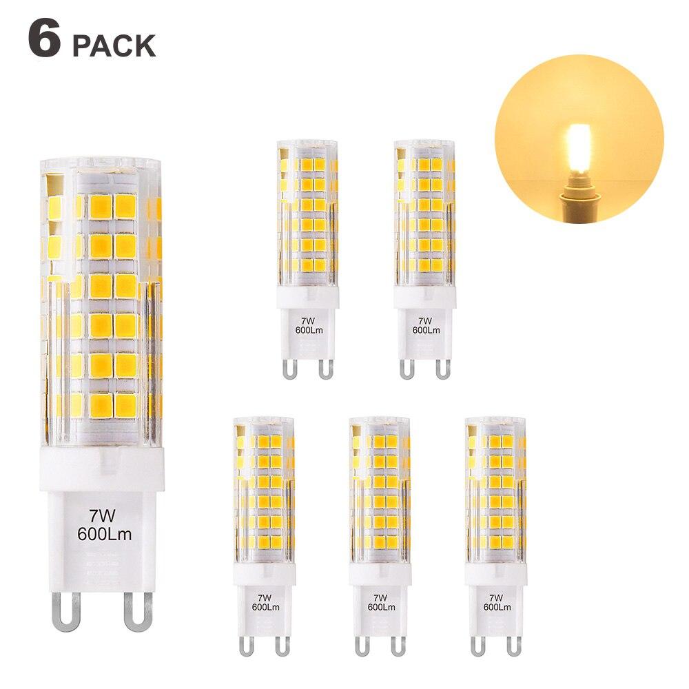 Super Bright 7W G9 GU9 Miniature LED Light Bulb Capsule Corn Lamp Bulbs Warm White 3000K 600Lm AC220-240V Replace 60W G9 Halogen