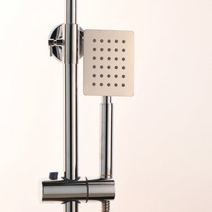 Image 3 - Monite 크롬 폴란드어 샤워 꼭지 욕실 8 인치 강우량 벽 마운트 샤워 세트 믹서 수도꼭지 높이 핸드 헬드 기능 조정