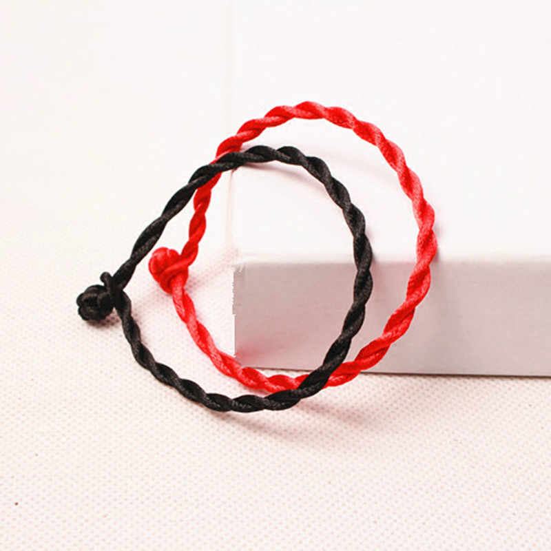 1 PCS Fashion Red Line Lucky Red Handmade Rope Hologram Bracelets for Women Men Jewelry Lover Couple