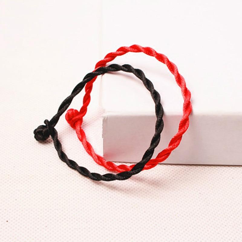 1 Pcs Di Modo Di Linea Rossa Lucky Red Corda Fatti A Mano Ologramma Braccialetti Per Le Donne Degli Uomini Dei Monili Lover Coppia Scelta Materiali