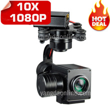 RC Drone Zoom Camera HD 1080P10X and UAV Drone Camera Gimbal Stabilizer for Aerial Cinematography/Inspection/Rescue/Surveillance