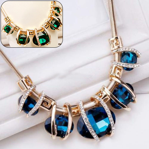 Fashion Crystal Golden Necklace