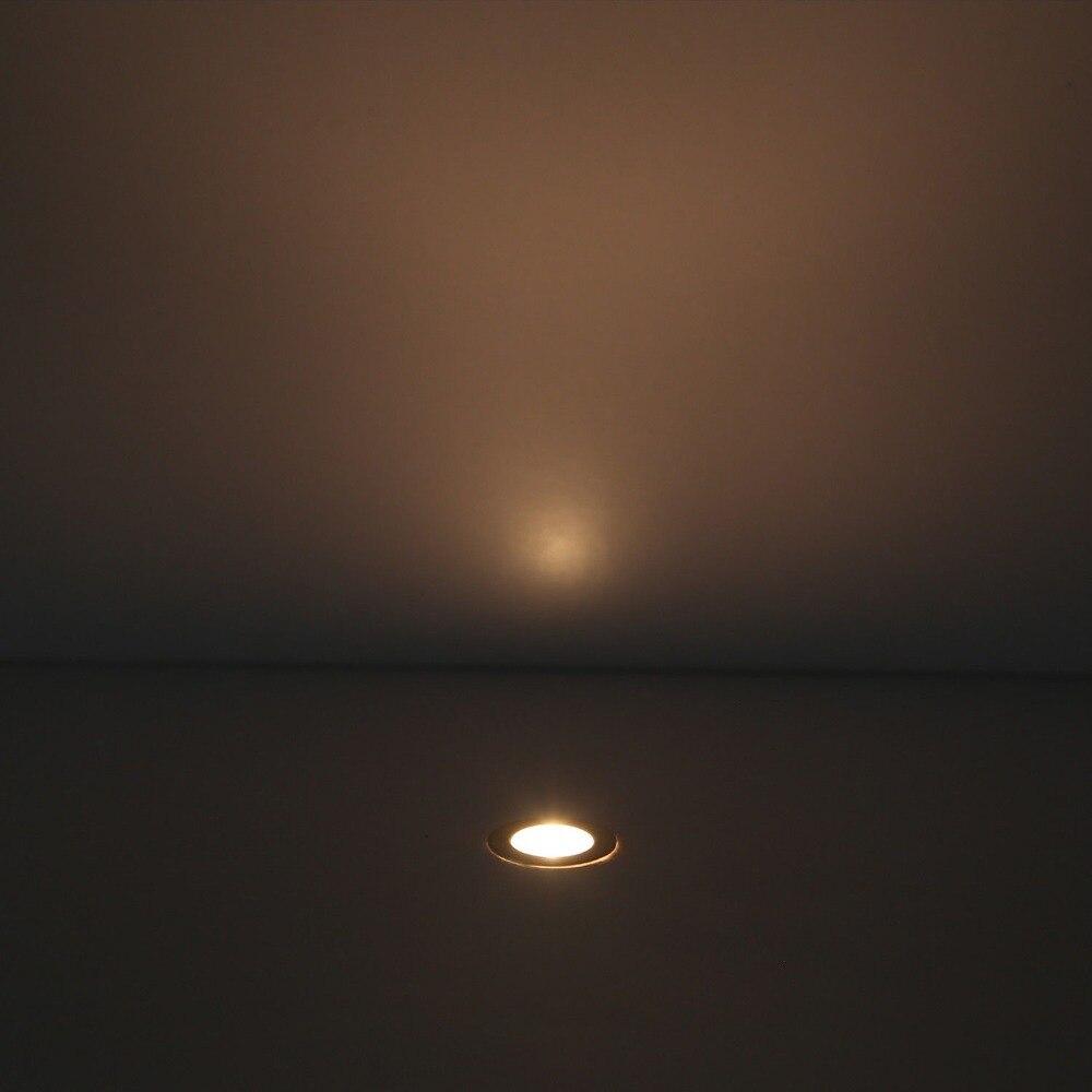 Kit de lumières de plate-forme encastrées de LED 10 paquets adaptateur d'alimentation extérieur 12VDC induit IP67 étanche dans les lumières au sol - 5