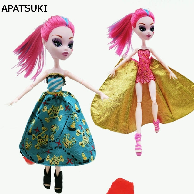 fashion luxury clothes for monster high dolls dress party summer