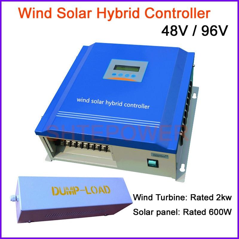 2000W LCD display hybrid Solar&Wind Controller,48V 96V wind turbines 2KW,solar panels 600W PWM system controller 900w 48v wind solar hybrid controller 600w wind 300w solar lcd display hybrid regulator charger