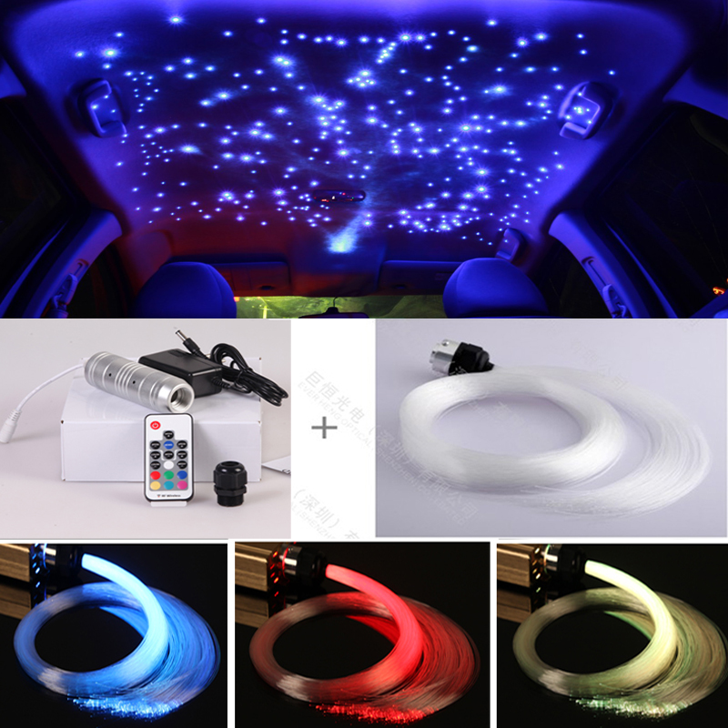Car Ceiling Light: Free shipping Mini led light engine Car roof top decorative star ceiling  fiber optic light kit,Lighting