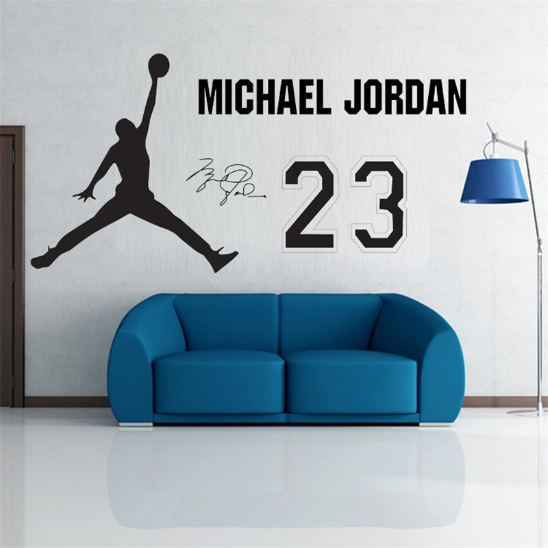 Wall Stickers Michael Jordan Home Decoration Famous People Room Sticker  Sports Wallpaper Decals Moistureproof