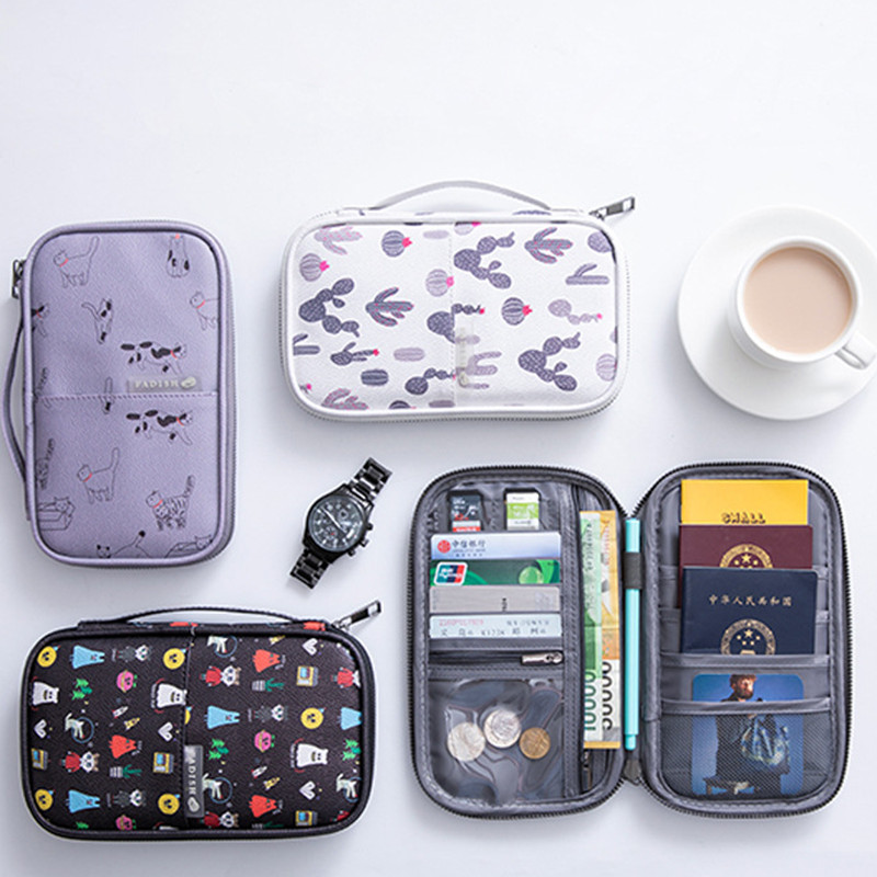 Card Holder Cool Tiger With Sunglasses Multifunctional High Capacity Portable Travel Documents Storage Bag