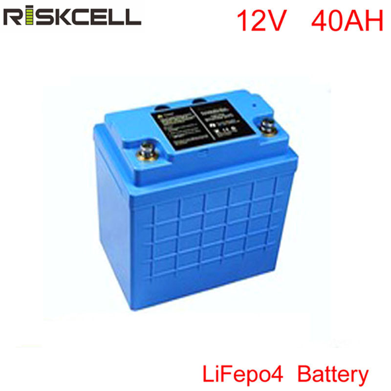 Lithium 12v 40Ah Battery for Electric Bike, Audio Equipment, Trolling Motor, Ice Auger, Lifepo4 / LFP 12v 40ah