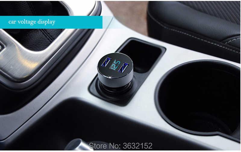 車の充電器 3.1A デュアル Usb 高速充電電圧検出シガーライター三菱アウトランダー 2016 ランサー 10 9 パジェロスポーツ