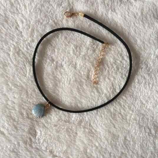 XL 0110 2018 moda punk gótico collar terciopelo clavícula collar de joyas de estilo retro de cuento de hadas playa shell mujer más bea
