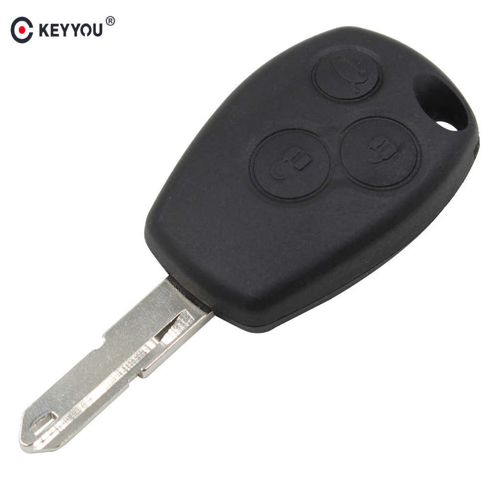 KEYYOU Remote Key Shell Case Cover 3 buttons for Renault Duster Logan Fluence Clio Vivaro Master Traffic Kangoo Megane lagunaKEYYOU Remote Key Shell Case Cover 3 buttons for Renault Duster Logan Fluence Clio Vivaro Master Traffic Kangoo Megane laguna