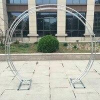 Бесплатная пересылка круглый арка цветок Металл Арка центральным для свадьбы питания вечерние события Decoration 2.3m Tall * 2,6 м Широкий