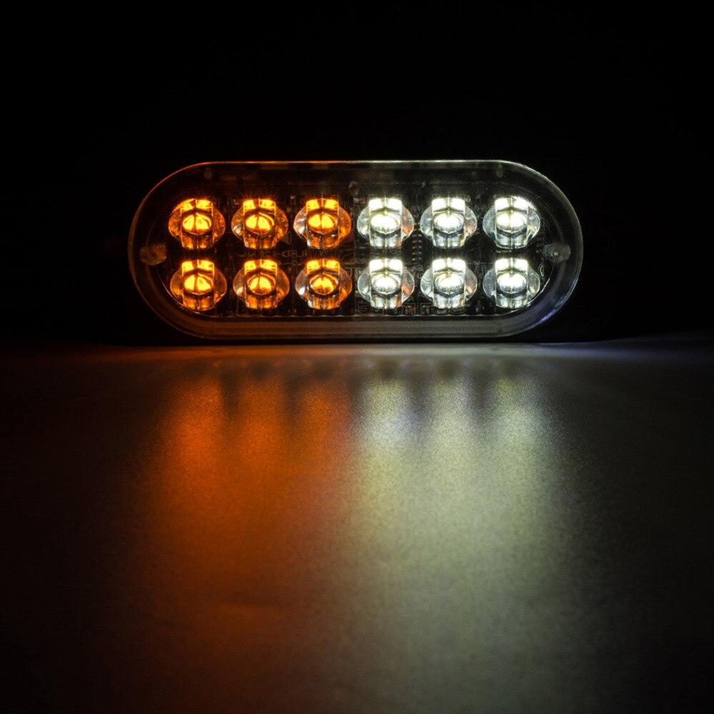 12В мигающий светодиод сигнальная лампа 1 шт Строб свет лампы белый/желтый автомобиль сигнальная лампа