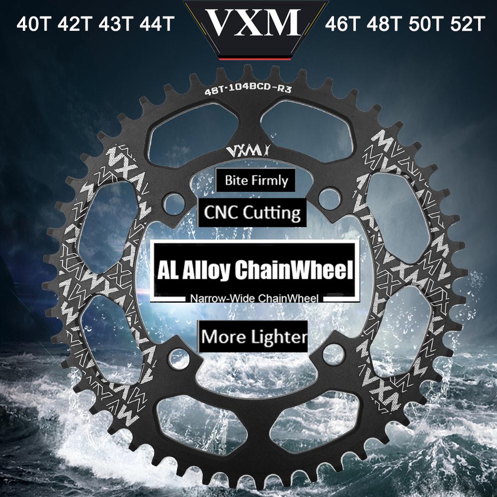 VXM-Bicycle-Crank-104BCD-40-42-44-46-48-50-52T-Mountain-Bicycle-Chainwheel-MTB-bike