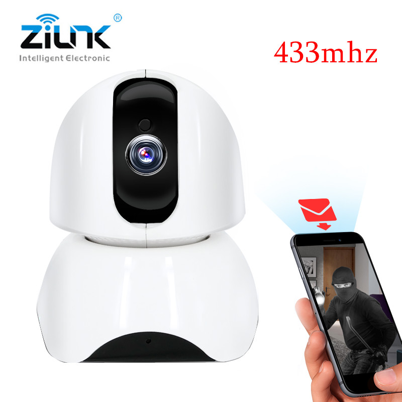 ZILNK New IP Camera Support 433Mhz WIFI Wireless 1080P HD Night Vision IR Motion Detection Indoor Security Door Alarm System escam wifi alarm system 433mhz 1527 motion detection ip camera hd 720p