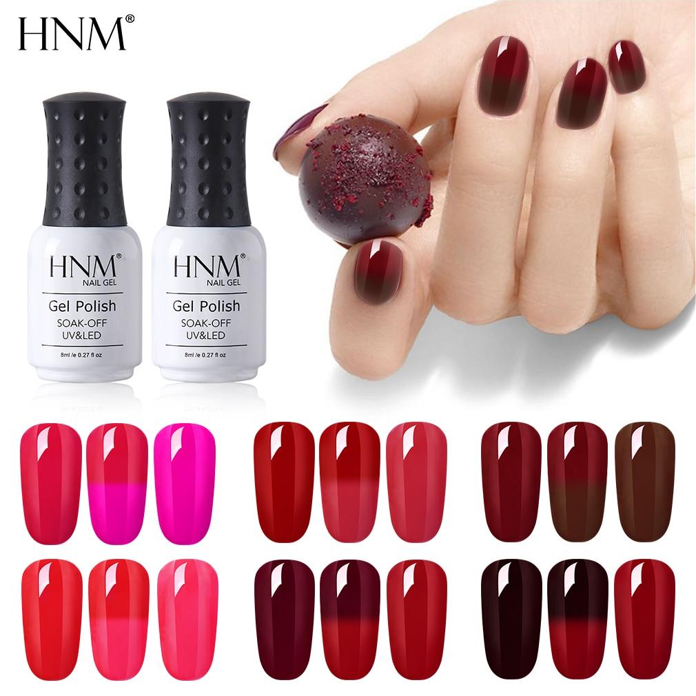 Hnm 8ml Color Rojo Vino Esmalte De Uñas Ojo De Gato Barniz