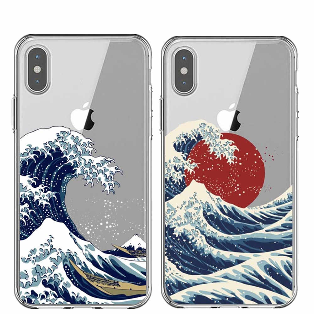 The Great Wave off Kanagawa สำหรับ iphone 11 Pro Max 6 6S 7 8 plus X XS MAX XR 5s SE Sea Wave Ocean Coque