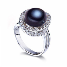 ZHIXI Freshwater Pearl Ring For Women Fine Jewelry Big Genuine Freshwater Pearl Wedding Bands Trendy Anniversary Gift Cross R009