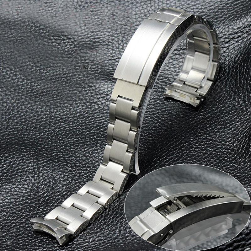 TJP 316L 20mm 21mm en acier Inoxydable Bracelets Montres Bracelet avec Givré Déploiement Fermoir Boucle Pour Daytona Sous-Marin RÔLE sous-marin