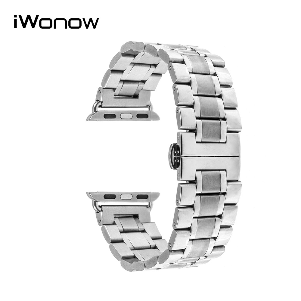 Stainless Steel Watchband for 38mm 42mm iWatch Apple Watch / Sport / Edittion Band Wrist Strap Bracelet + Adapters + Tool stainless steel band bracelet wrist strap for 38mm 42mm iwatch apple watch sport edition with adapter