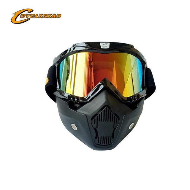 Adulte Snow Lunettes de ski coloré objectif Motocross anti-buée Mode protection des yeux Lunettes de sport, Homme, orange