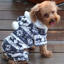 ZERO 1PC สุนัขสัตว์เลี้ยง WARM Puppy Jumpsuit Hoodie Coat Doggy เครื่องแต่งกาย