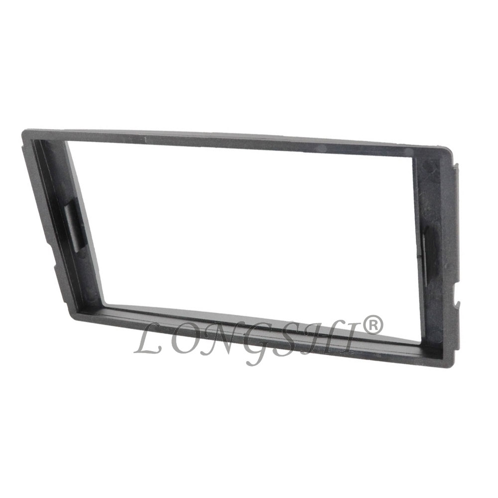 LONGHSI Double Din Stereo Panel for Hyundai Santa Fe 2006 2012 Fascia Radio DVD Dash Mounting Installation Trim Kit Face Frame in Fascias from Automobiles Motorcycles