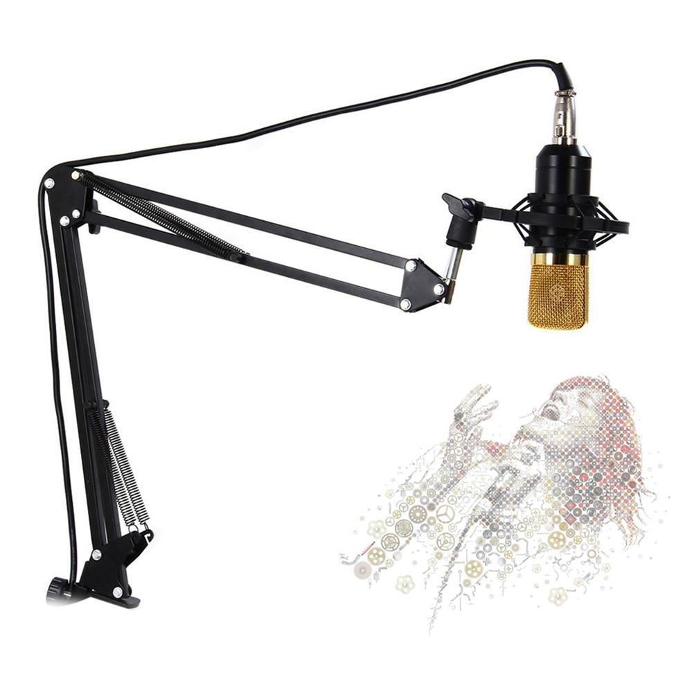 Держатель для микрофона, регулируемый на 270 градусов, черный цвет, для студии|Микрофонные стойки| | АлиЭкспресс