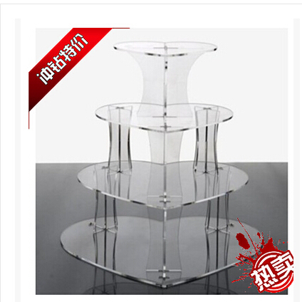 4 Tier Heart Shape Acrylic Cake Stand, Cup Cake Stand, Cup Cake Holder