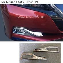 Автомобиль Стайлинг обложка stick детектор ABS Chrome передние противотуманные свет лампы отделкой рамки литье 2 шт. для Nissan Leaf 2017 2018 2019