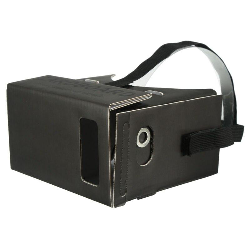 Brand New <font><b>Universal</b></font> Mobile Phone <font><b>DIY</b></font> <font><b>VR</b></font> <font><b>Virtual</b></font> <font><b>Reality</b></font> Cardboard 3D Glasses Headset NFC <font><b>Video</b></font> Film For 3.5-7 Inch Screen Phones
