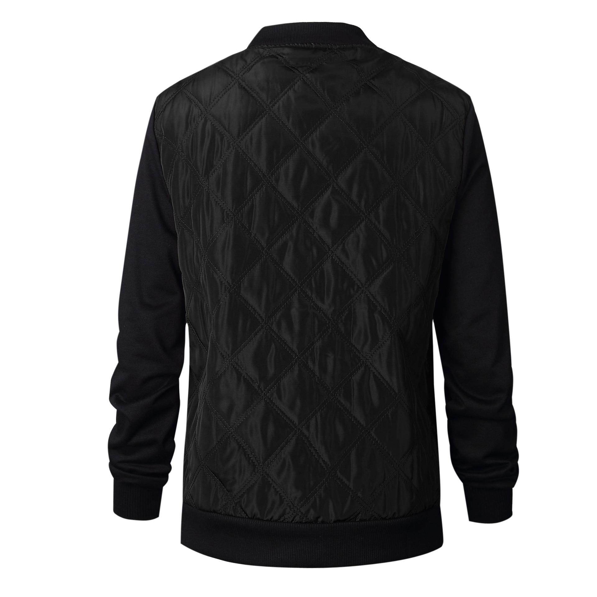 HTB1R0 lw8mWBuNkSndVq6AsApXaD Plus Size Autumn Winter Fashion Slim Women's Jacket Zipper Cardigan Splice Bomber Jackets 2019 Long Sleeve Bodycon Coats Female