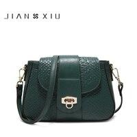 JIANXIU Genuine Leather Bags Women Crocodile Cow Leather Shoulder Bag Ladies Messenger Bag Clutch Casual Female