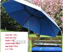 1.8 M Anti-UV umbrella outdoor shelter canopy super strong Aluminum Alloy Folding fishing umbrella camp canopy tent+bag+ rope