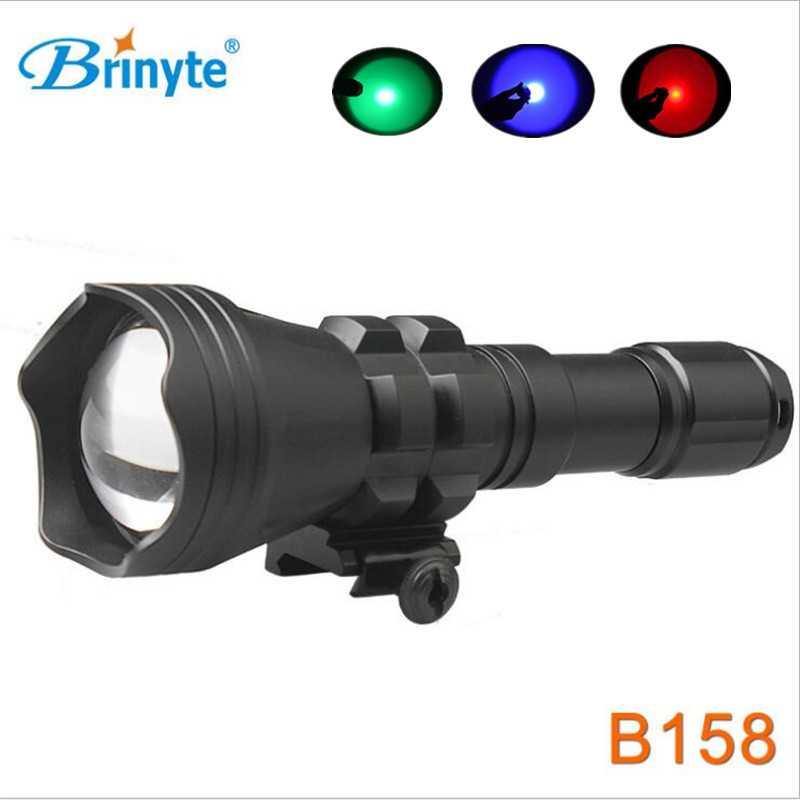 CREE XM-L2 U4 LED Aircraft-Grade AL-6061-T6 Aluminum Material 4 Colors LED Lamp Rifle Lights Gun Light Weapon Light Flashlight